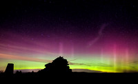 Aurora Borealis lights from the Minch Moor - November 3rd 2015